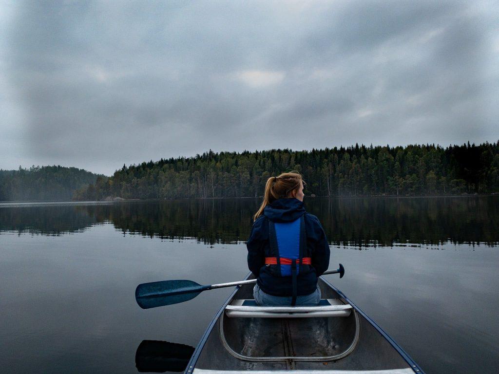 Glaskogen Kanu fahren